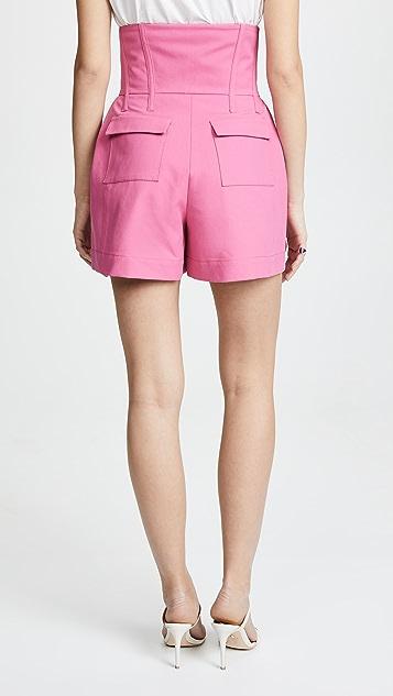 Prabal Gurung Engle Corset Waist Shorts