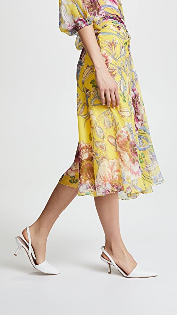Prabal Gurung Moore Side Twist Front Skirt