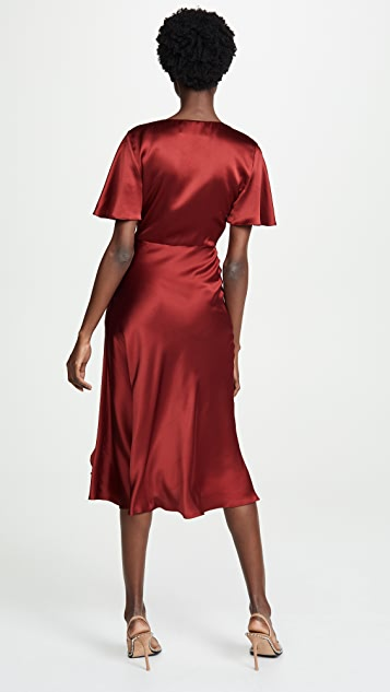 Prabal Gurung Side Ruched Ruffle Sun Dress
