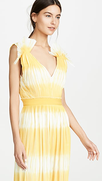 Prabal Gurung Tadia V Neck Gown