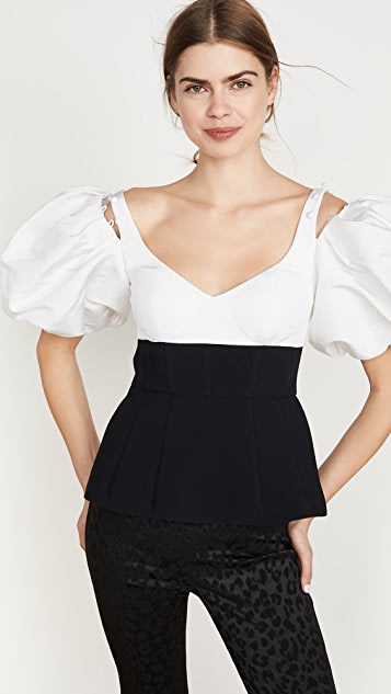 Prabal Gurung Removable Puff Sleeve Blouse