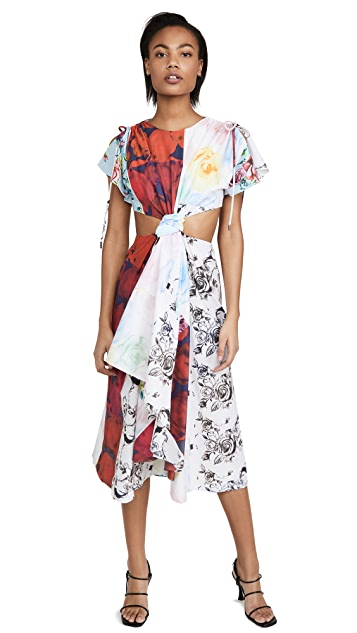 Prabal Gurung Patchwork Cut Out Dress