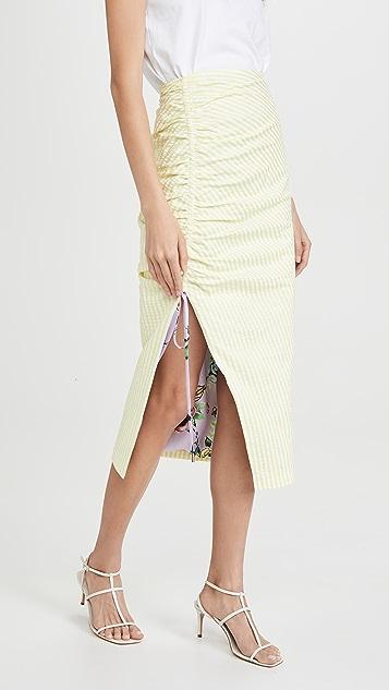 Prabal Gurung 侧边抽褶泡泡纱半身裙
