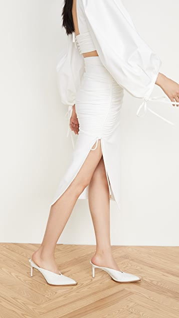 Prabal Gurung 府绸侧边抽褶半身裙