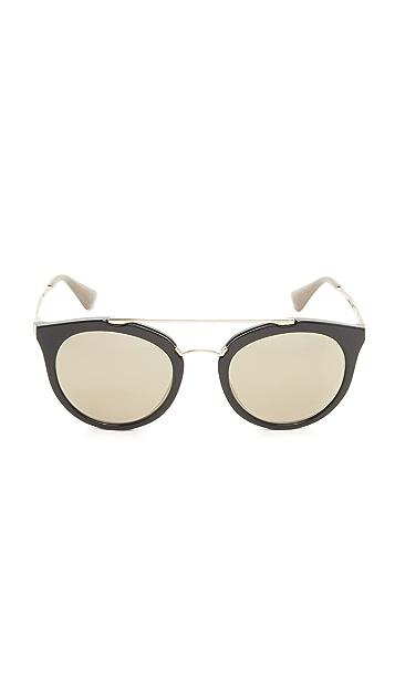 Prada Mirrored Aviator Sunglasses