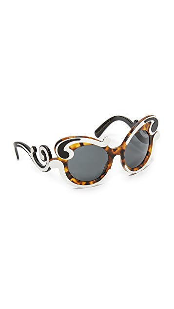 Prada Special Fit Swirl Sunglasses