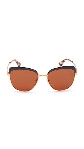 Prada Brow Cat Eye Sunglasses