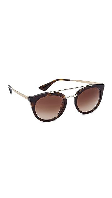 eb98a579723d Prada Round Aviator Sunglasses