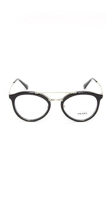 Prada Солнцезащитные очки с надбровной планкой