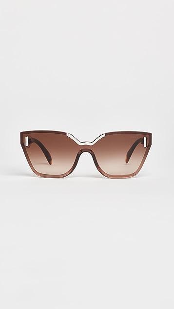 Prada Hide Catwalk Sunglasses - Light Brown/Brown