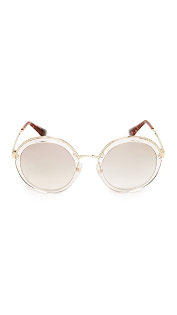 Prada Transparent Round Sunglasses