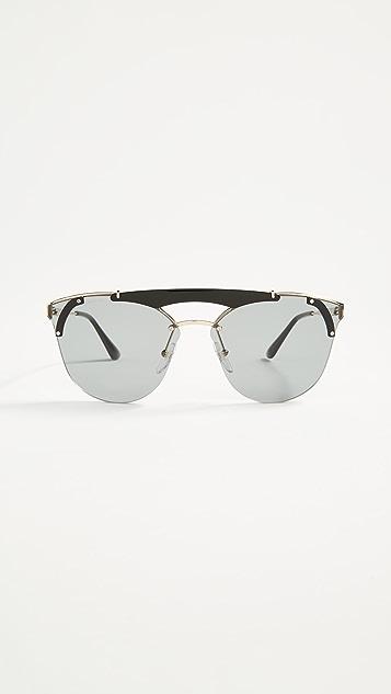Prada Ornate Aviator Sunglasses