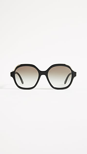 Prada Heritage Sunglasses - Black/Grey