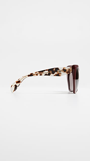 Prada PR-16RS Oversized Geometric Eyeglasses