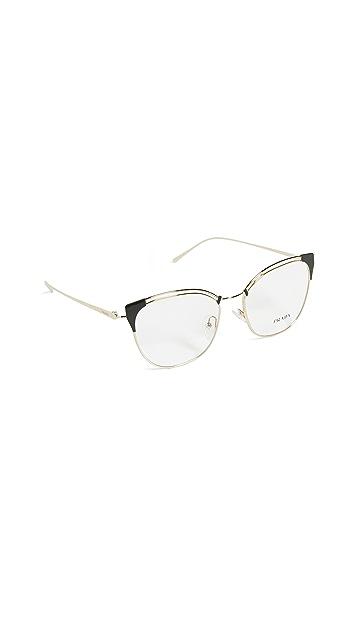 Prada Cat Eye Metal Glasses
