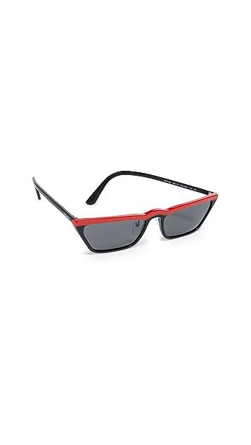 Prada PR19US Ultravox Skinny Narrow  Sunglasses