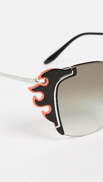 Prada PR 59VS Flame Cat Eye Sunglasses