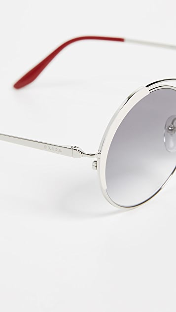 Prada PR 55VS Round Aviators Sunglasses