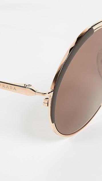 Prada PR 55VS Round Sunglasses