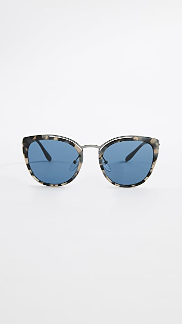 7e5a5ee0c5 Prada PR 20US Oversized Cat Eye Tortoise Sunglasses