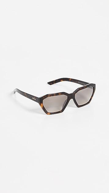 Prada PR 03VS Millennial Geometric Sunglasses