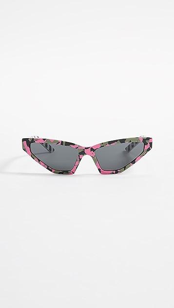 Prada PR 12VS Millennial Narrow Cat Eye Sunglasses