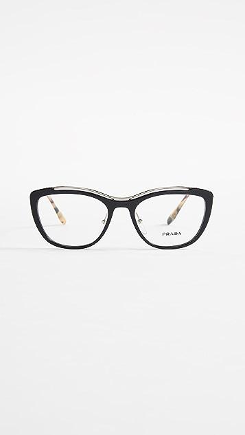 Prada PR 04VV 金属眼镜