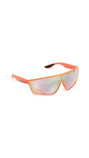 Prada PS 09US Sporty Shield Sunglasses