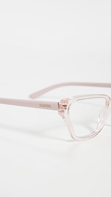 Prada Narrow Cat Eye Glasses