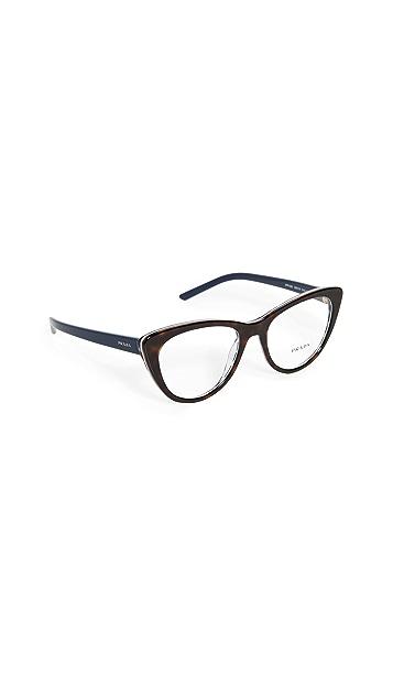 Prada Классические очки «кошачий глаз»
