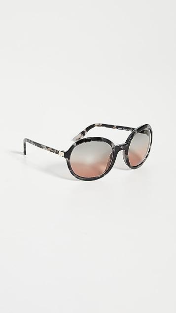 Prada Большие круглые солнцезащитные очки