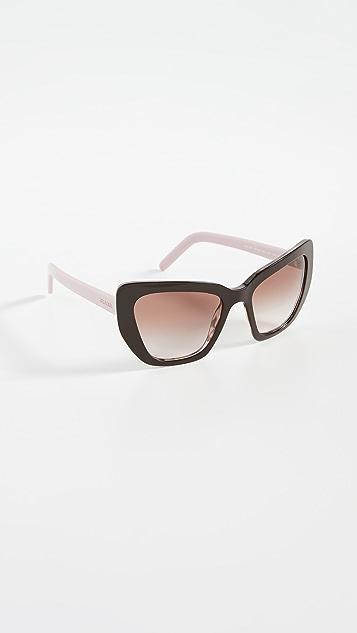 Prada Oversized Square Cat Eye Sunglasses