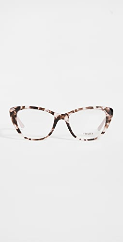 Prada - 52 Mondern Monochrome Logo Cat Eye Glasses