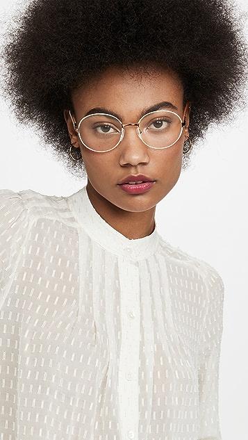 Prada 51 Metal Round Glasses