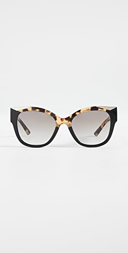 Prada - Monochrome Logo Square Sunglasses