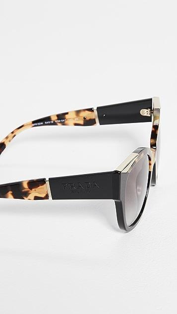 Prada Monochrome Logo Square Sunglasses