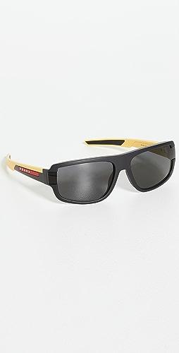 Prada - Sporty Narrow Shield Sunglasses
