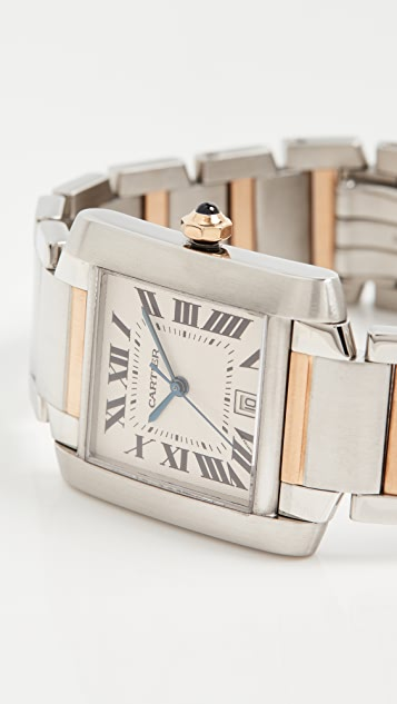 Pre-Owned Cartier Tank Francaise Large Stainless Steel Automatic Watch 28mm