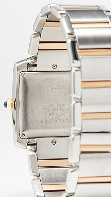中古 Cartier Tank Francaise 大号不锈钢自动腕表 28mm