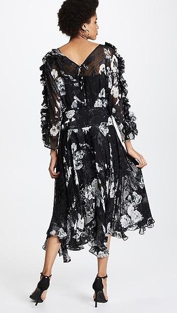Preen By Thornton Bregazzi Ermin Dress with Black Silk Slip