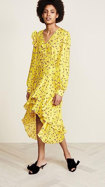 Preen By Thornton Bregazzi Margot Floral Dress - Yellow Mini Peony