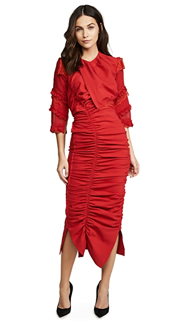 Preen By Thornton Bregazzi Ginger Ruched Dress
