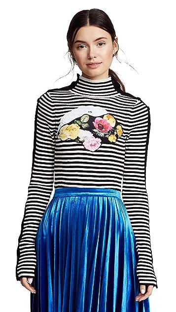 Preen By Thornton Bregazzi Tansy Striped Knit with Applique