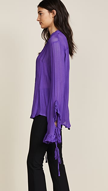 Preen By Thornton Bregazzi Preen Line Alexia Pleated Blouse