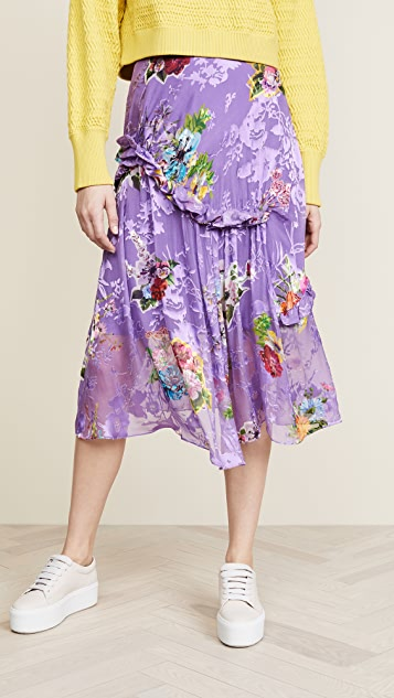 Preen By Thornton Bregazzi Elsa Skirt - Purple Botanical