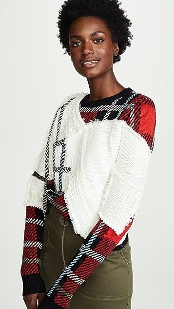 Preen By Thornton Bregazzi Rita Mixed Knit Sweater