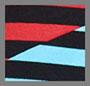 黑色/蓝色/红色条纹