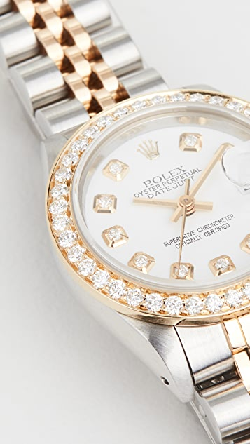 Pre-Owned Rolex Ladies Rolex White Diamond Dial, Diamond Bezel, Jubilee Band
