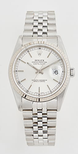 Pre-Owned Rolex - Gents Rolex Silver Stick Dial, Fluted Bezel, Jubilee Band