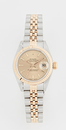 Pre-Owned Rolex - Ladies Rolex Champagne Stk 表盘, Fluted 表圈, Jubilee 表带